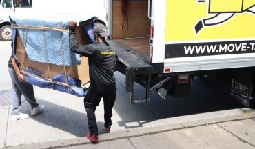 Movers working during the coronavirus pandemic because they are essential workers